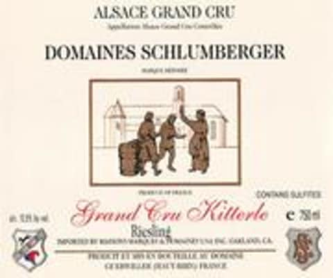 Domaines Schlumberger Kitterle Grand Cru Riesling (half-bottle) 1986 Front Label