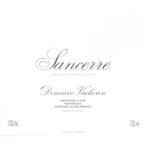 Domaine Vacheron Sancerre (375ML half-bottle) 2014 Front Label