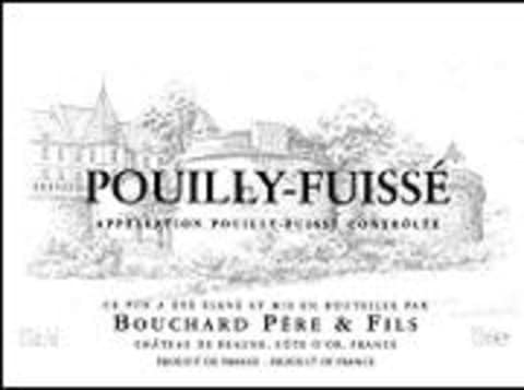 Bouchard Pere & Fils Pouilly-Fuisse 1998 Front Label