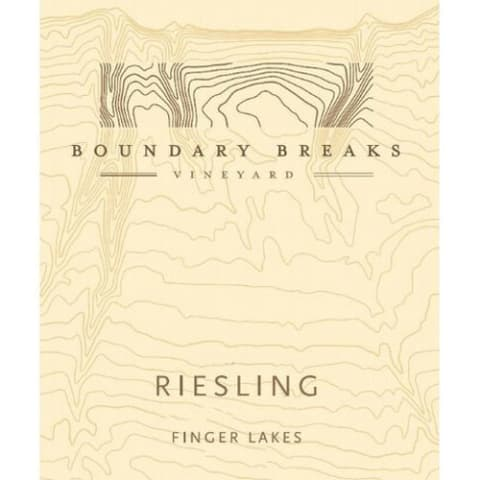Boundary Breaks Late Harvest No. 90 Riesling (375ML half-bottle) 2013 Front Label