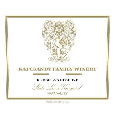 Kapcsandy Family Winery State Lane Vineyard Roberta's Reserve 2006 Front Label