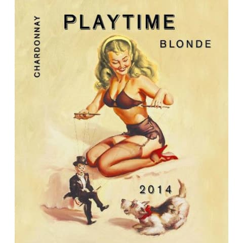 Playtime Blonde Chardonnay 2014 Front Label