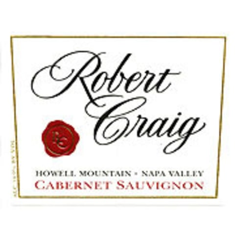 Robert Craig Cellars Howell Mountain Cabernet Sauvignon 1997 Front Label