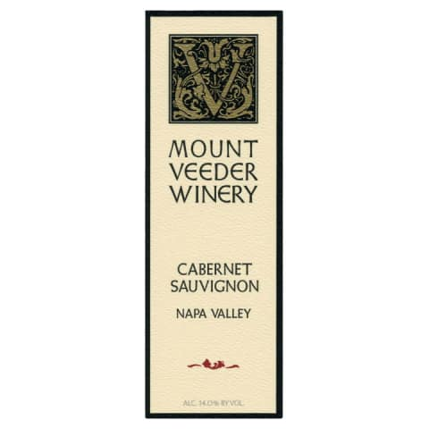 Mount Veeder Winery Cabernet Sauvignon 2013 Front Label