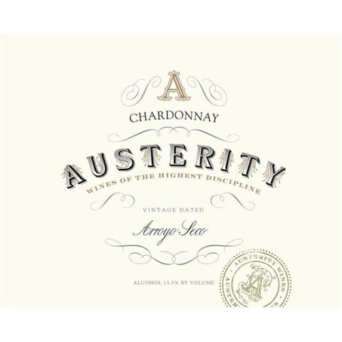 Austerity Chardonnay 2014 Front Label