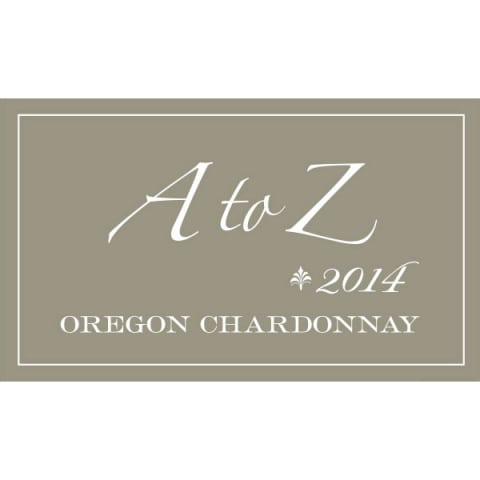 A to Z Chardonnay 2014 Front Label