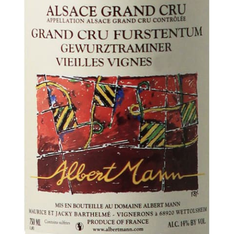 Albert Mann Grand Cru Furstentum Vieille Vignes Gewurztraminer 2000 Front Label
