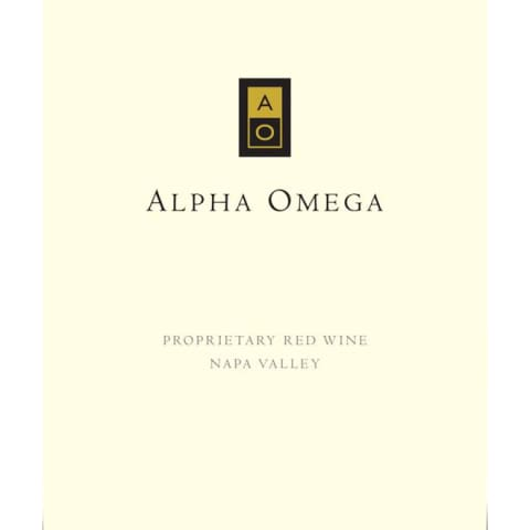 Alpha Omega Proprietary Red 2003 Front Label