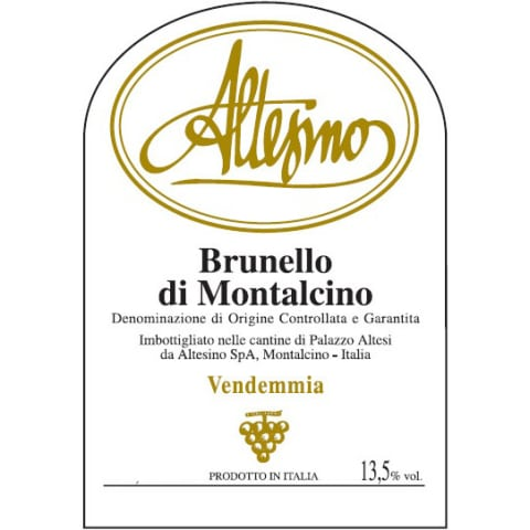 Altesino Brunello di Montalcino (375ML half-bottle) 2010 Front Label