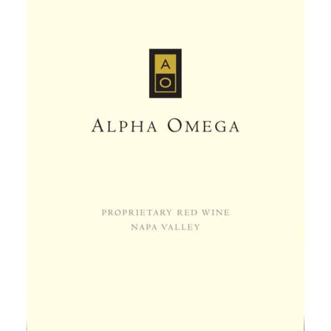 Alpha Omega Proprietary Red 2008 Front Label