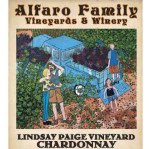 Alfaro Family Lindsay Paige Vineyard Chardonnay 2013 Front Label