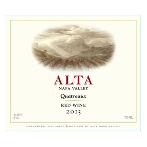 Alta Quatreaux 2013 Front Label