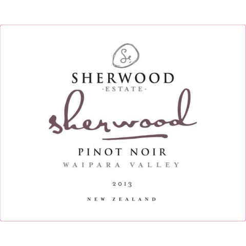 Sherwood Estate Pinot Noir 2013 Front Label