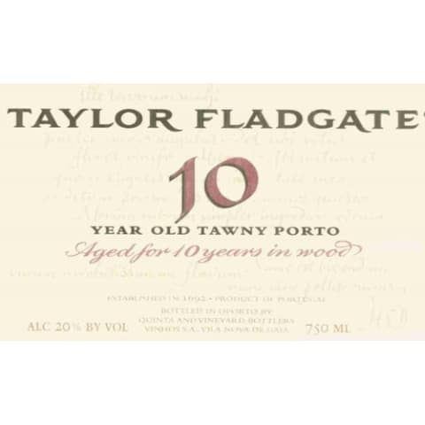 Taylor Fladgate 10 Year Old Tawny Front Label