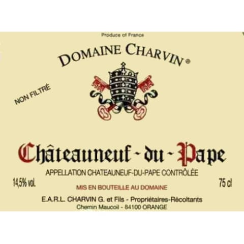 Domaine Charvin Chateauneuf-du-Pape 2012 Front Label