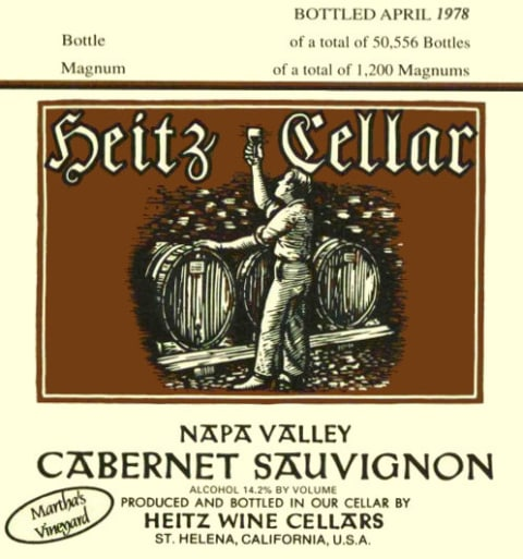 Heitz Cellar Martha's Vineyard Cabernet Sauvignon 1983  Front Label