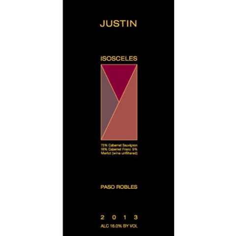 Justin Isosceles 2013 Front Label