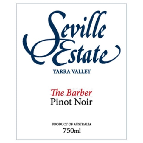 Seville Estate The Barber Pinot Noir 2015 Front Label
