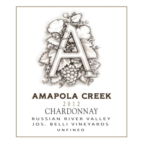 Amapola Creek Jos. Belli Vineyards Chardonnay 2012 Front Label