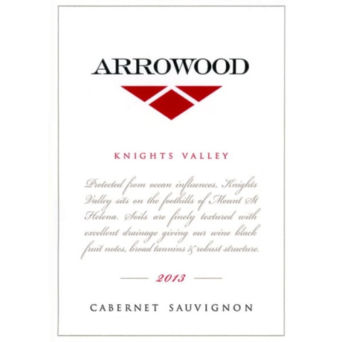 Arrowood Knights Valley Cabernet Sauvignon 2013 Front Label