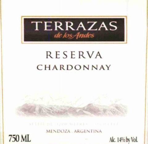Terrazas De Los Andes Reserva Chardonnay 2010