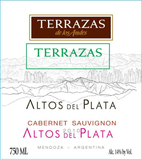 Terrazas De Los Andes Altos Del Plata Cabernet Sauvignon 2010