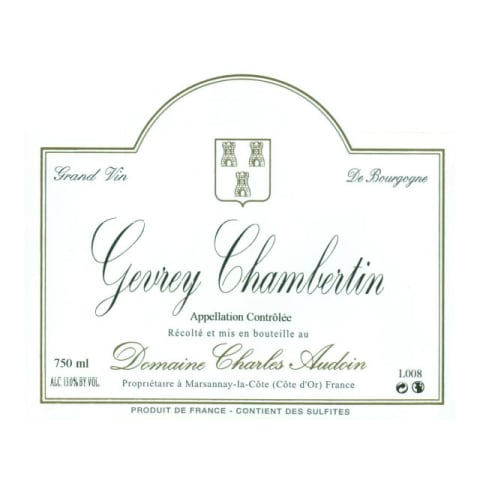 Domaine Charles Audoin Gevrey-Chambertin 2013 Front Label