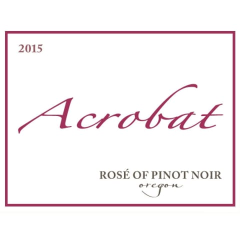 Acrobat Rose of Pinot Noir 2015 Front Label