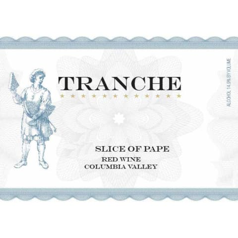 Tranche Cellars Slice of Pape Rouge 2012 Front Label