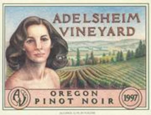 Adelsheim Pinot Noir (half-bottle) 1997 Front Label