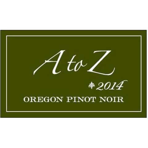 A to Z Pinot Noir 2014 Front Label