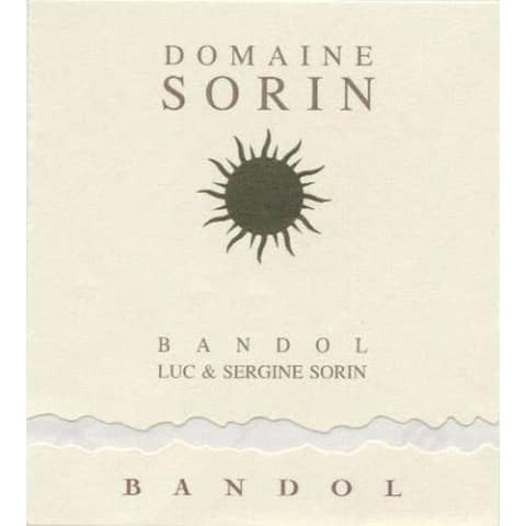 Domaine Sorin Bandol Red 2012 Front Label