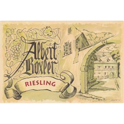 Albert Boxler Riesling 2014 Front Label
