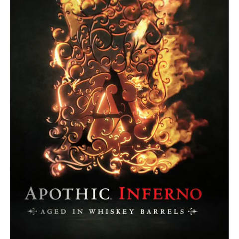 Apothic Inferno Aged in Whiskey Barrels 2014 Front Label