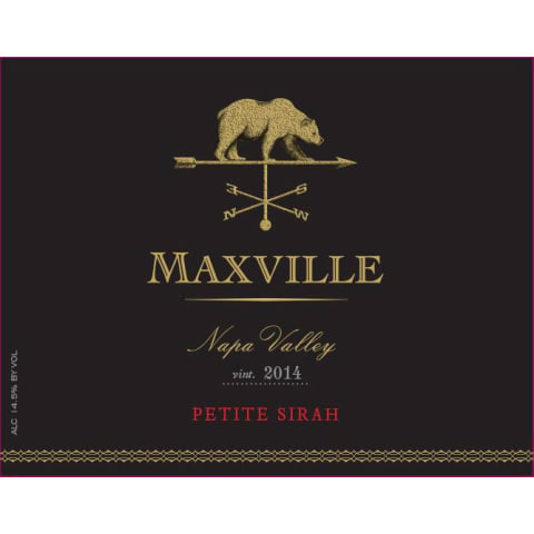 Maxville Petite Sirah 2014 Front Label
