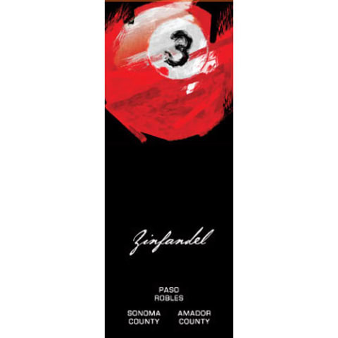 3 Ball Zinfandel 2014 Front Label