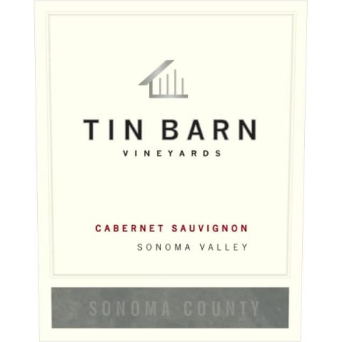 Tin Barn Sonoma Valley Cabernet Sauvignon 2012 Front Label