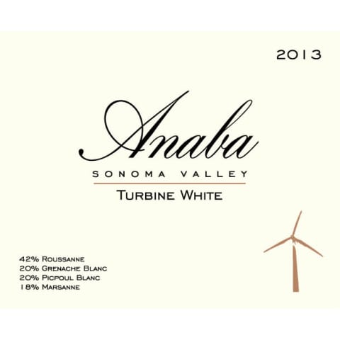 Anaba Turbine White 2013 Front Label