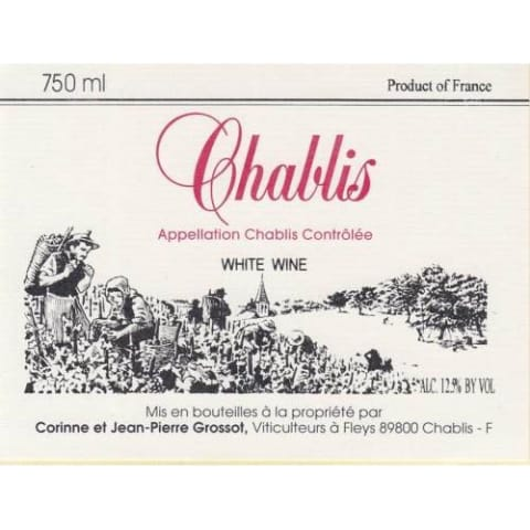 Grossot Chablis 2014 Front Label