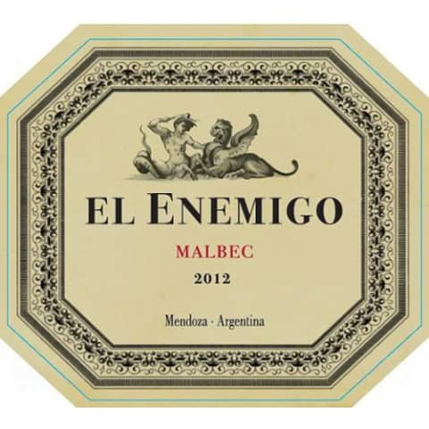El Enemigo  Malbec 2012 Front Label