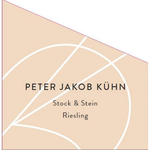 Peter Jakob Kuhn Stock and Stein Trocken Riesling 2015 Front Label