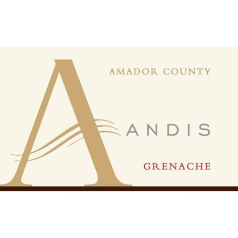 Andis Grenache 2012 Front Label