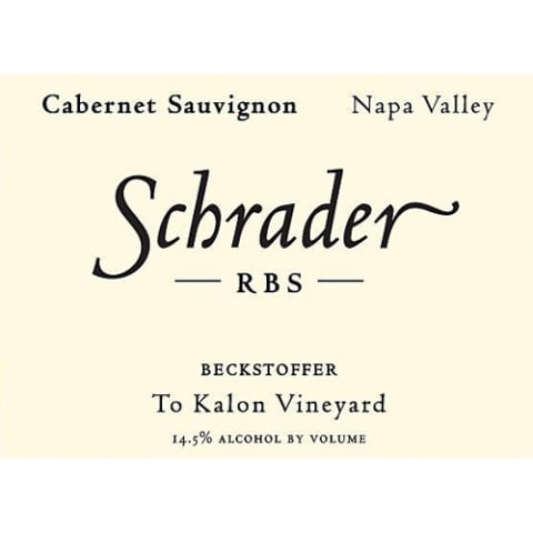 Schrader RBS To Kalon Vineyard Cabernet Sauvignon 2014 Front Label