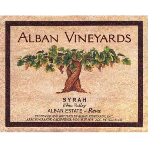 Alban Reva Estate Syrah (torn labels) 2005 Front Label