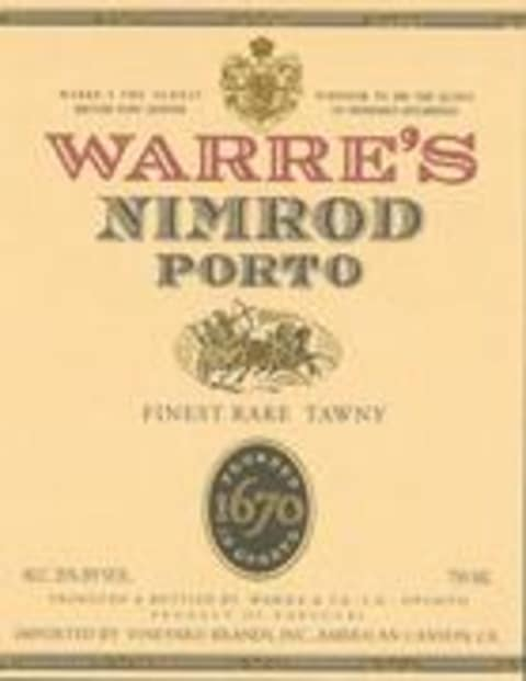 Warre's Nimrod 15 Year Old Tawny Front Label