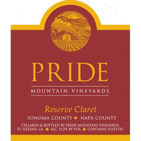 Pride Mountain Vineyards Reserve Claret 2013 Front Label