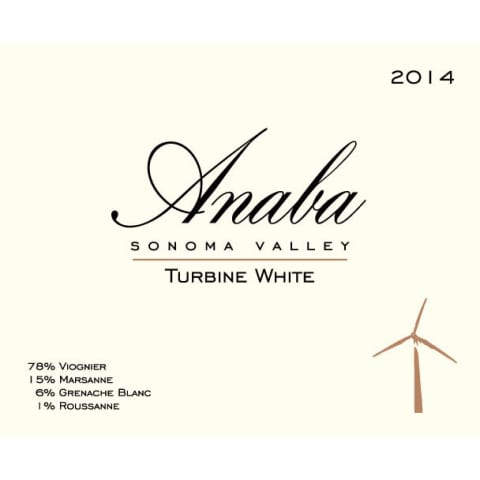 Anaba Turbine White 2014 Front Label