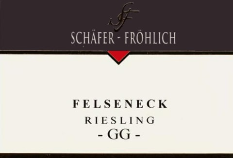 Schafer-Frohlich Felseneck Riesling Grosses Gewachs 2012 Front Label