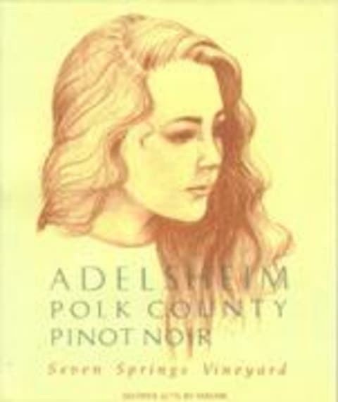 Adelsheim Seven Springs Pinot Noir 1995 Front Label