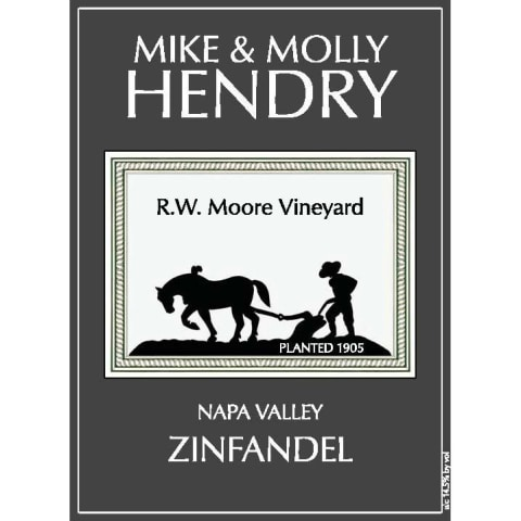 Mike and Molly Hendry R.W. Moore Vineyard Zinfandel 2014 Front Label